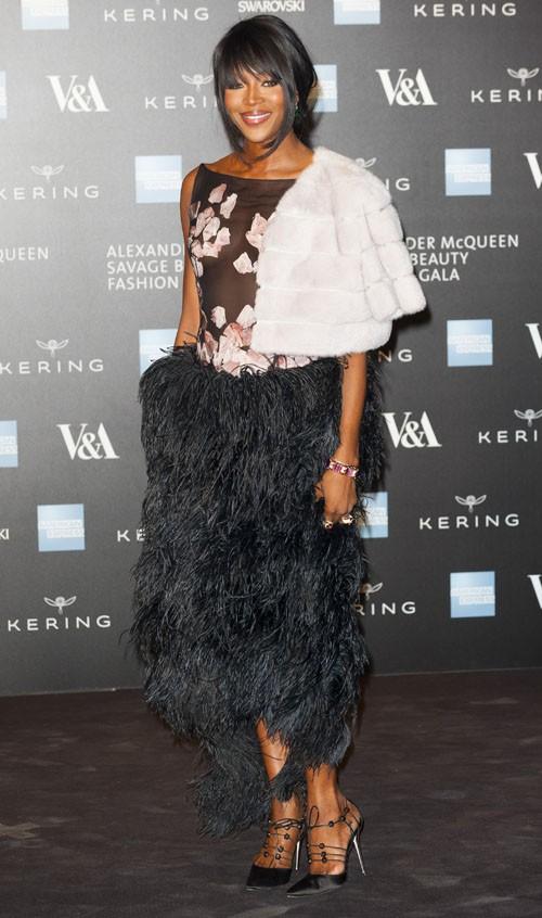 Naomi Campbell à Londres le 12 mars 2015