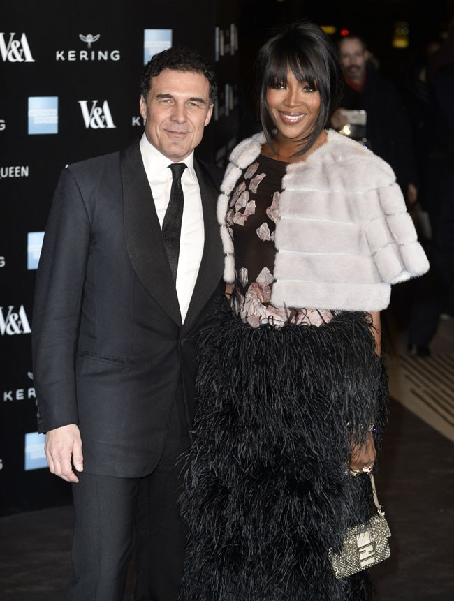 Naomi Campbell et Andre Balazs à Londres le 12 mars 2015