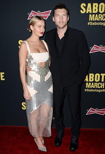 Lara Bingle et Sam Worthington à Los Angeles le 19 mars 2014