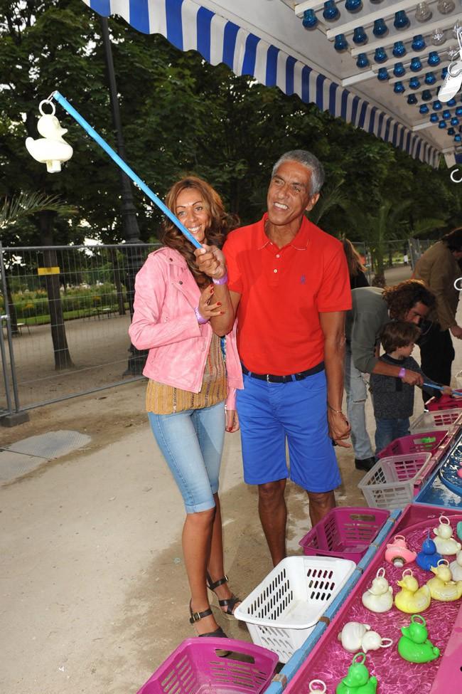 Samy Naceri à l'inauguration de la fête des Tuileries le 27 juin 2014