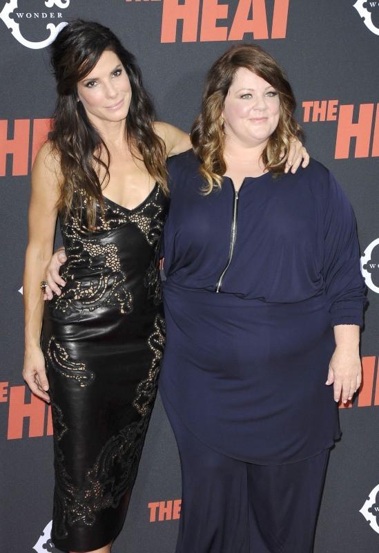 Sandra Bullock et Melissa McCarthy le 23 juin 2013 à New York