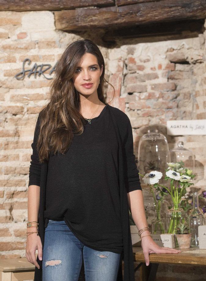 Sara Carbonero au lancement de sa collection de bijoux avec Agatha