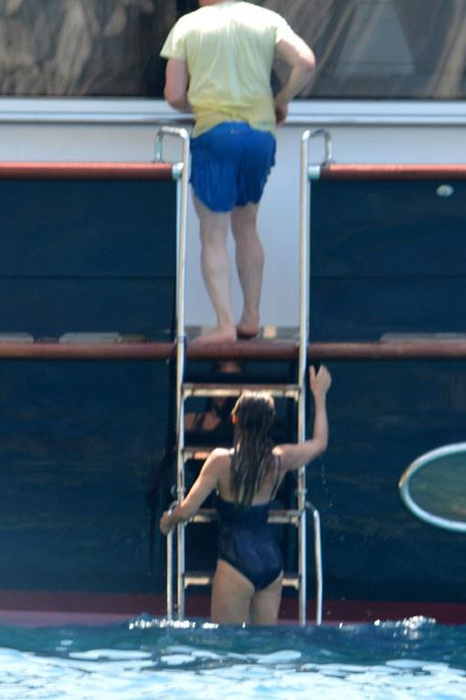 Sarah Jessica Parker en vacances en Grèce avec son mari Matthew Broderick le 22 août 2013