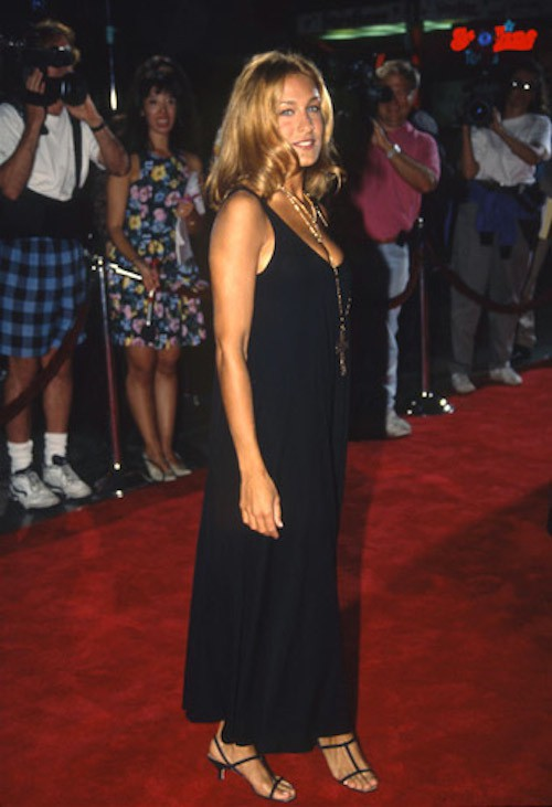 A la première du film Honeymoon en 1992