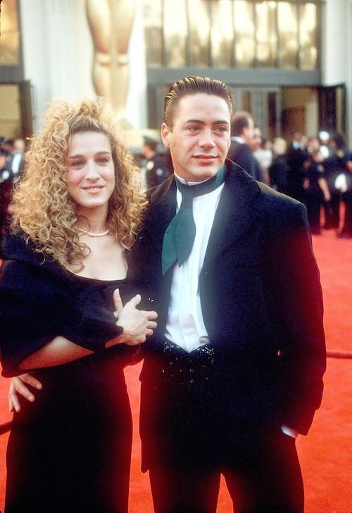 Avec Robert Downey Jr. à Los Angeles en 1999