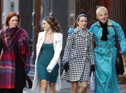En 2004 sur le tournage de Sex and The City à new York