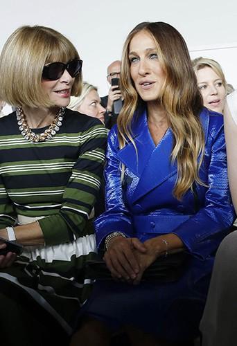 Anna Wintour et Sarah Jessica Parker à New York le 11 septembre 2014