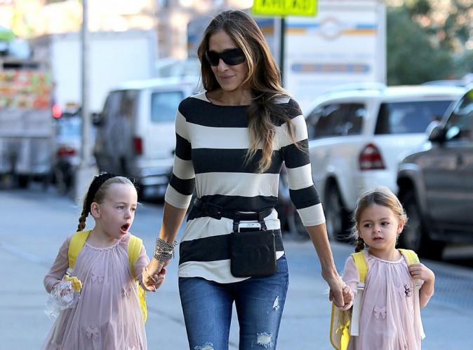 Sarah Jessica Parker et ses jumelles à New York le 17 septembre 2014