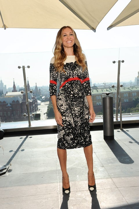 "Sarah Jessica Parker lors du photocall du film ""I Don't Know How She Does It"" à Moscou, le 29 aout 2011."