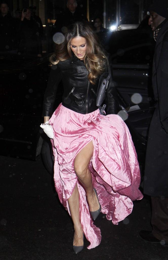 Sarah Jessica Parker arrivant à la soirée 2012 amfAR New York Gala, le 8 février 2012.