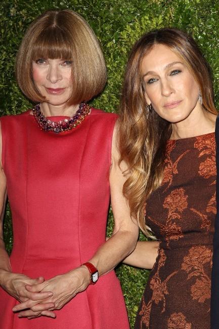 Anna Wintour et Sarah Jessica Parker lors de la soirée HBO à New York, le 4 décembre 2012.