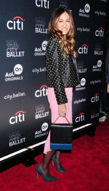 """Sarah Jessica Parker lors de la première de sa web-série """"City.Ballet"""" à New York, le 4 novembre 2013."""