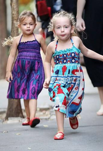 Sarah Jessica Parker et ses jumelles à New-York le 10 septembre 2013