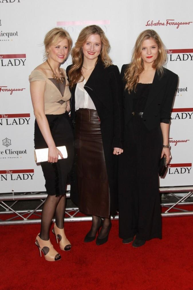 Mamie, Grace et Louisa Gummer lors de la première du film The Iron Lady à New York, le 13 décembre 2011.