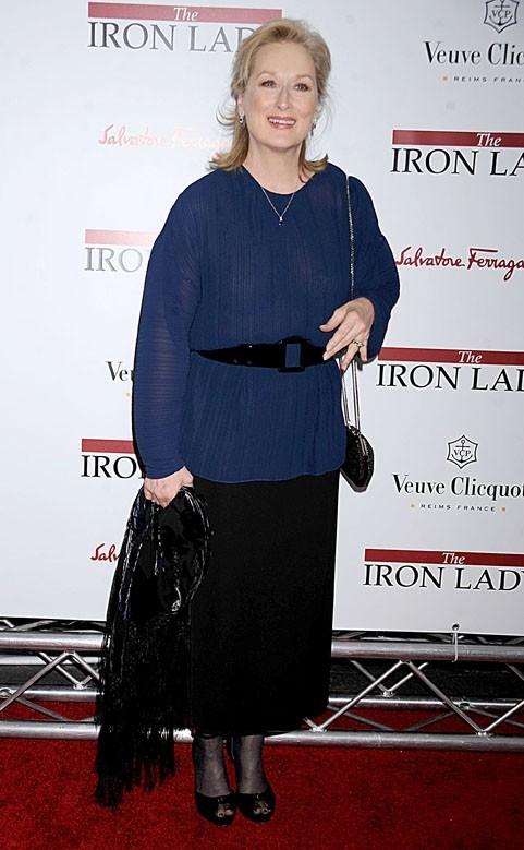 Meryl Streep lors de la première du film The Iron Lady à New York, le 13 décembre 2011.