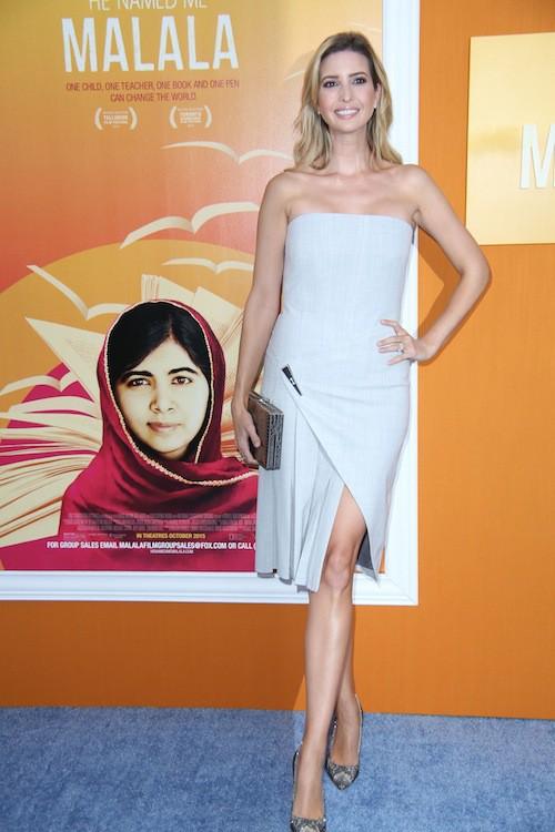 Ivanka Trump à l'avant-première du film Je m'appelle Malala, à New York, le 24 septembre 2015 !