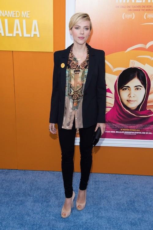 Scarlett Johansson à l'avant-première du film Je m'appelle Malala, à New York, le 24 septembre 2015 !