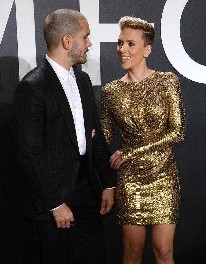 Scarlett Johansson et Romain Dauriac à Los Angeles le 20 février 2015