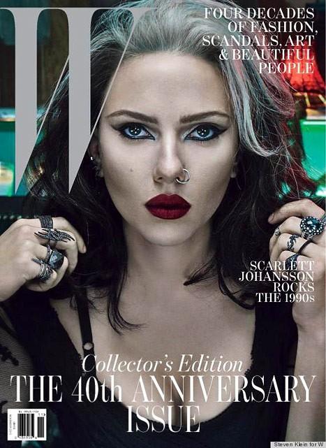 Scarlett Johansson en couverture de W Magazine du mois de Novembre 2012.
