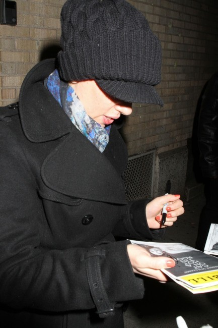 Scarlett Johansson à Broadway, le 3 janvier 2013.
