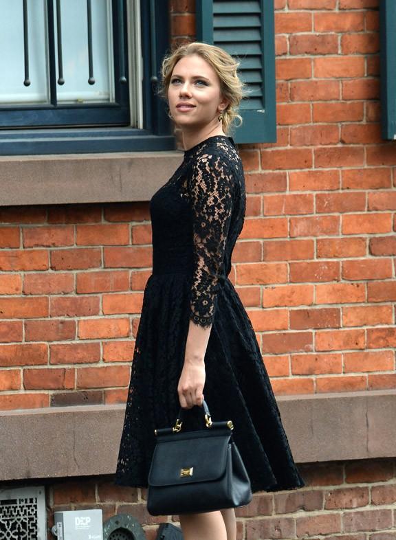 Scarlett Johansson et Matthew McConaughey en tournage à New-York pour Dolce&Gabbana le 13 juillet 2013