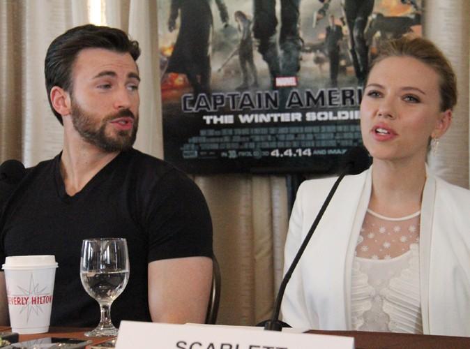 """Scarlett Johansson : future maman radieuse pour assurer la promotion de """"Captain America 2 """" à Los Angeles !"""
