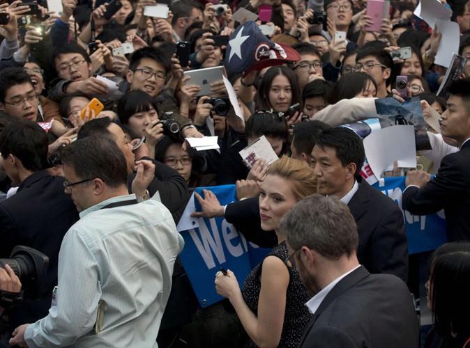 Scarlett Johansson en promo à Pékin, le 24 mars 2014.