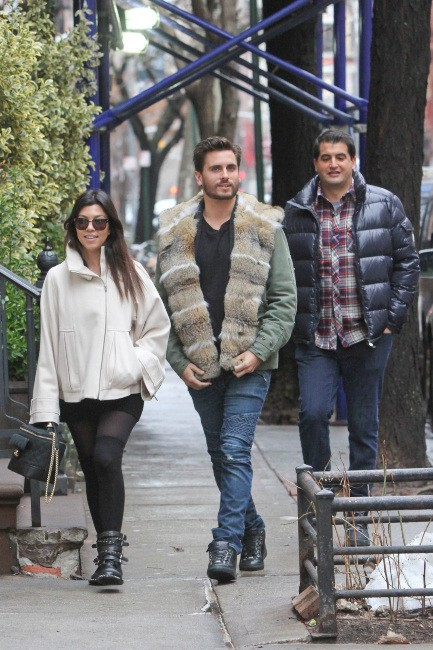Kourtney Kardashian et Scott Disick à New York, le 6 janvier 2014.