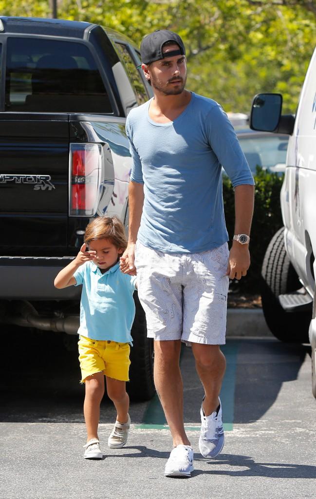 Scott Disick et son fils à Los Angeles