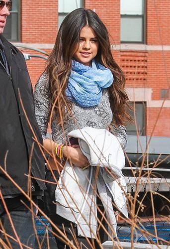 Selena Gomez à New York le 11 mars 2014