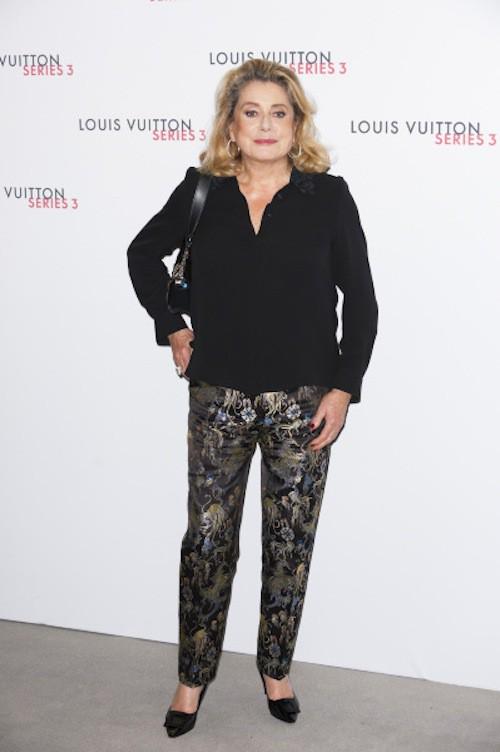 Catherine Deneuve à la soirée Louis Vuitton series 3, à Londres le 20 septembre 2015