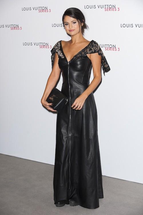 Selena Gomez à la soirée Louis Vuitton series 3, à Londres le 20 septembre 2015