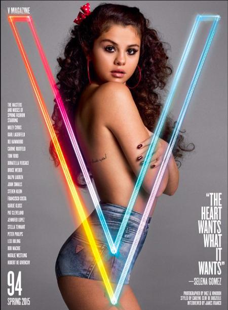 Selena Gomez : elle fait tomber le haut pour V magazine !