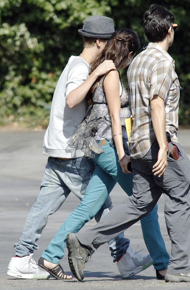 Justin Bieber et Selena Gomez, Los Angeles, 3 aout 2012