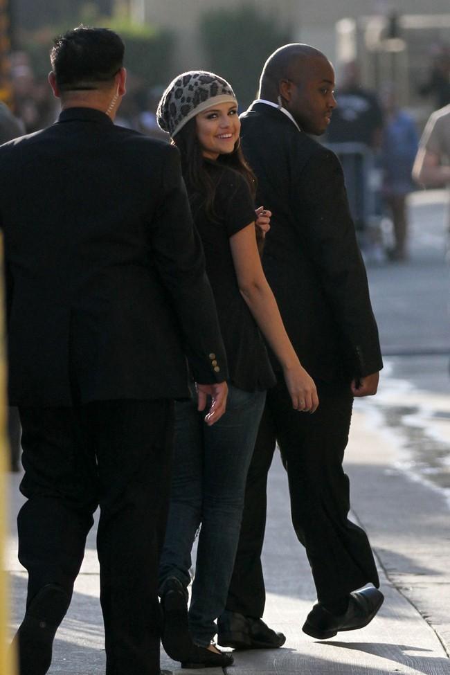 Selena Gomez chez Jimmy Kimmel le 27 septembre 2012