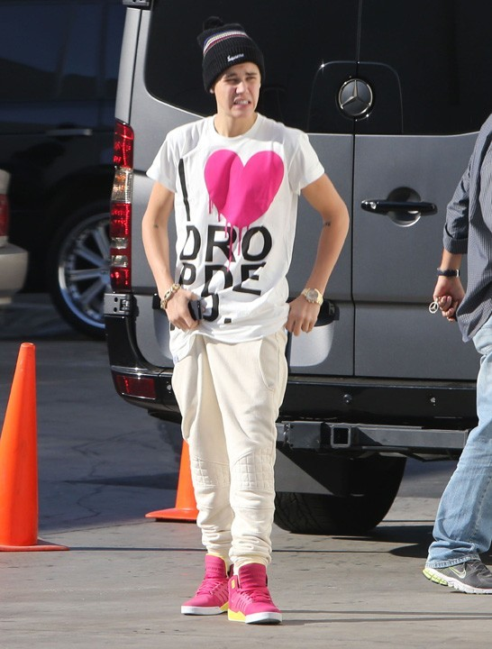 Justin Bieber à Woodland Hills, en Californie, le 4 octobre 2012
