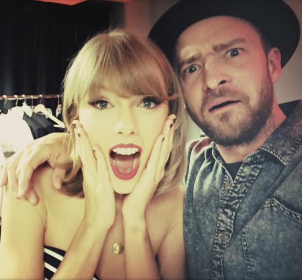Taylor Swift et Justin Timberlake le 26 août 2015