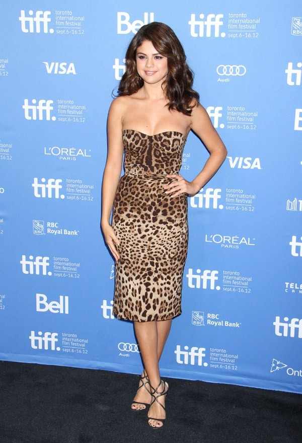 Selena Gomez au Festival International du Film de Toronto le 7 septembre 2012