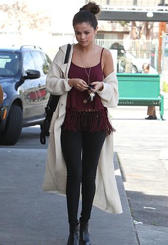 Selena Gomez à Los Angeles le 12 février 2014