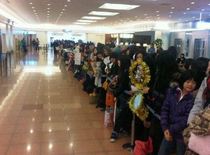 Ils étaient nombreux à l'attendre à l'aéroport !