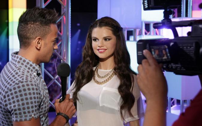 La statue de cire de Selena Gomez au musée Madame Tussauds de New York le 7 août 2014
