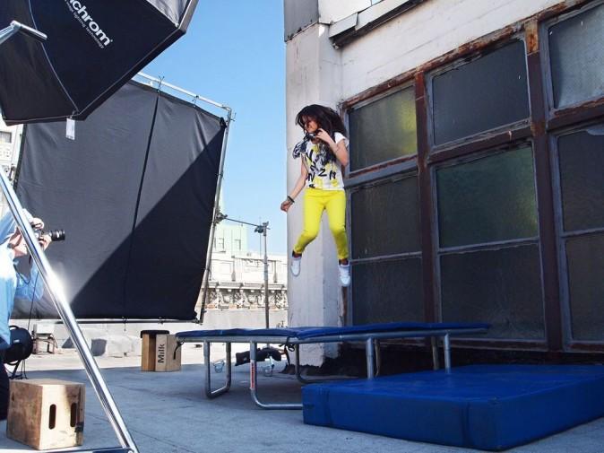 Le shooting des nouveaux visuels Adidas Neo