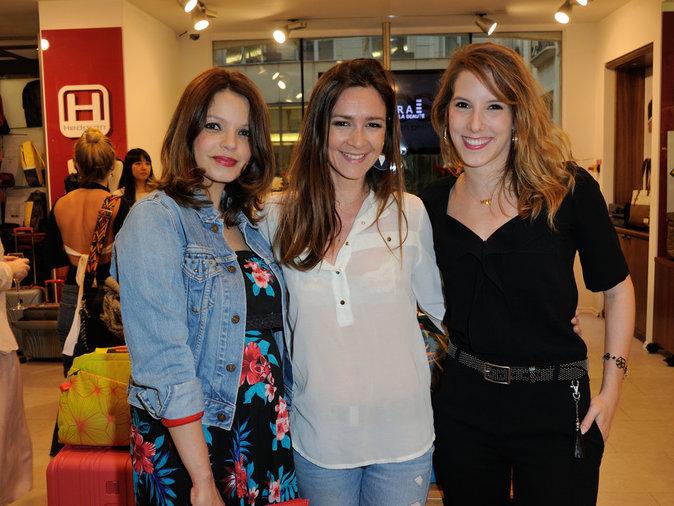 Severine Ferrer, Léa François et Emma Boidron au lancement de la plateforme ASOS le 12 mai 2016