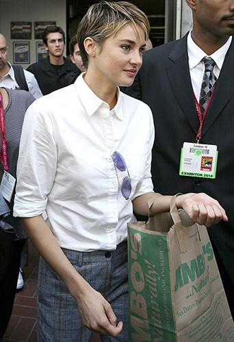 Shailene Woodley à San Diego le 26 juillet 2014