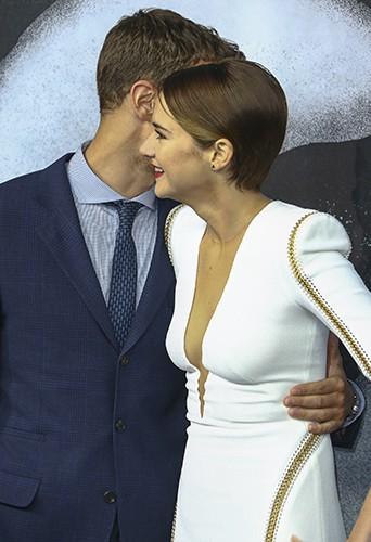 Theo James et Shailene Woodley à Berlin le 1er avril 2014