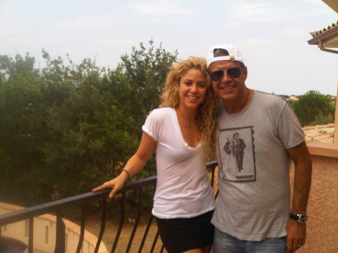 Shakira et beau-papa !