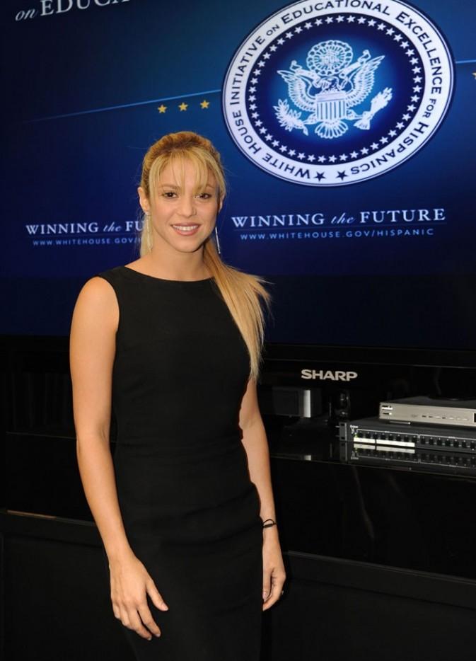 Shakira à la Maison Blanche hier