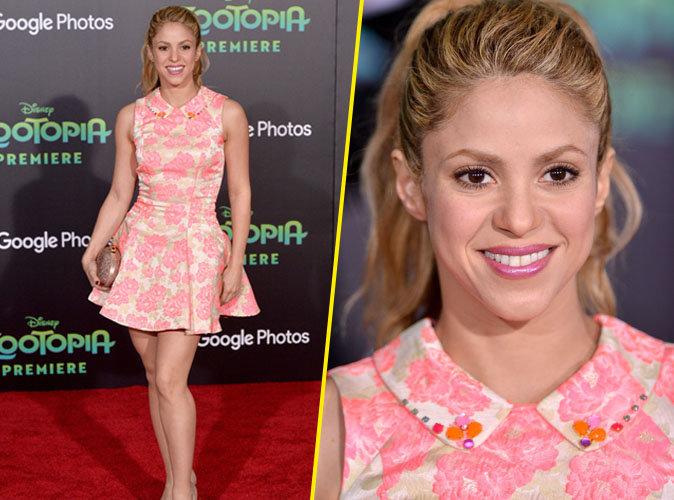 Shakira : sexy en rose bonbon pour pr�senter Zootropolis !