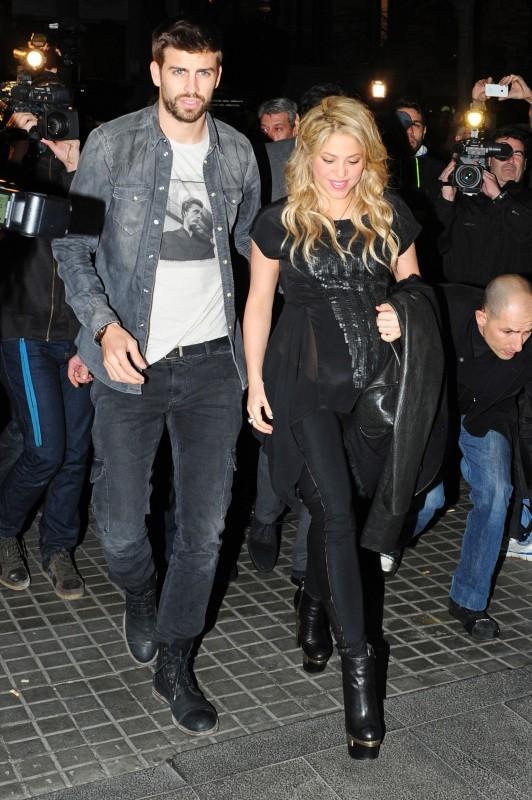 Shakira et Gerard Piqué le 14 janvier 2013 à Barcelone