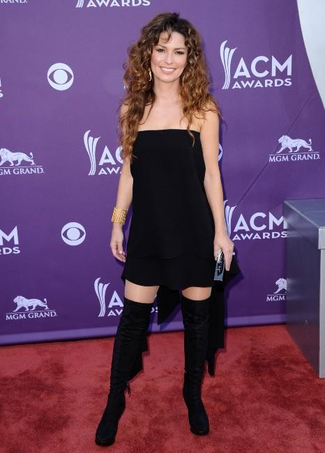 Shania Twain lors de la cérémonie des ACM Awards 2013 à Las Vegas, le 7 avril 2013.